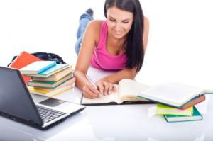 student preparing exam