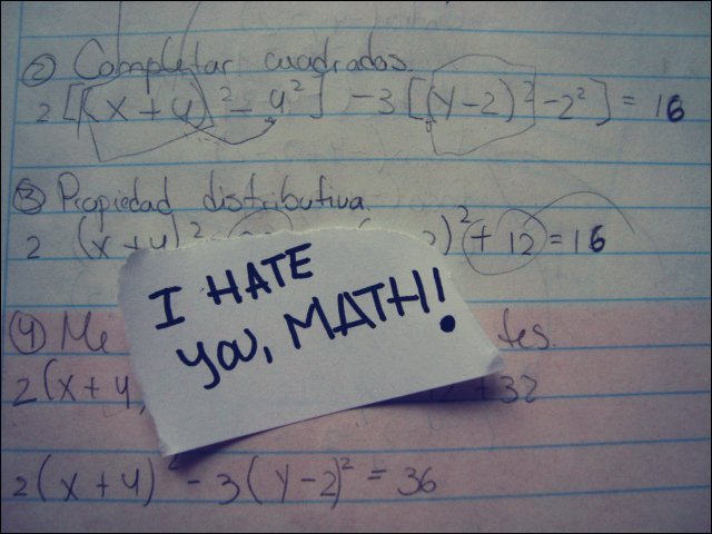 I hate you math