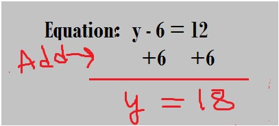 one step equation using Addition