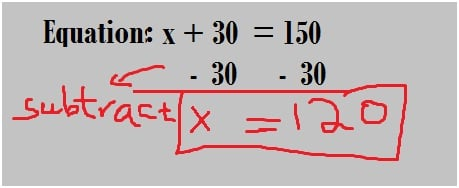 equation using Subtraction